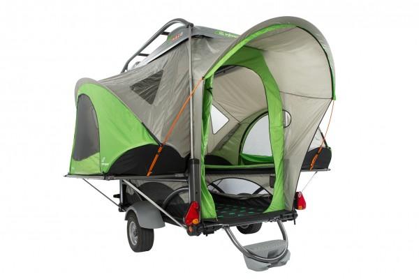 SylvanSport Faltanhänger für 4 Personen Zelt Fahrradträger