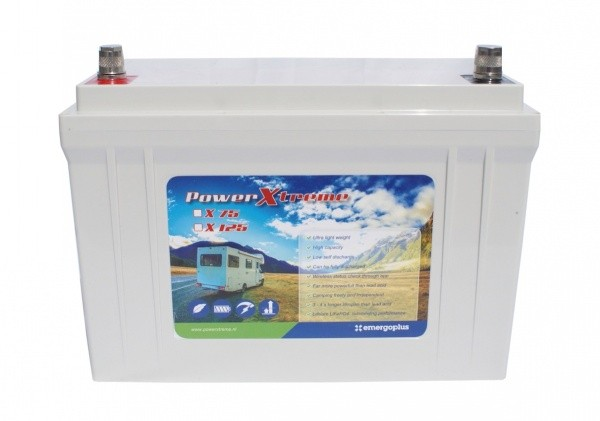 Powerxtreme X125 Lithium 12V 125Ah +Ladegerät Xenteq Wohnmobil Wohnwagen Akku