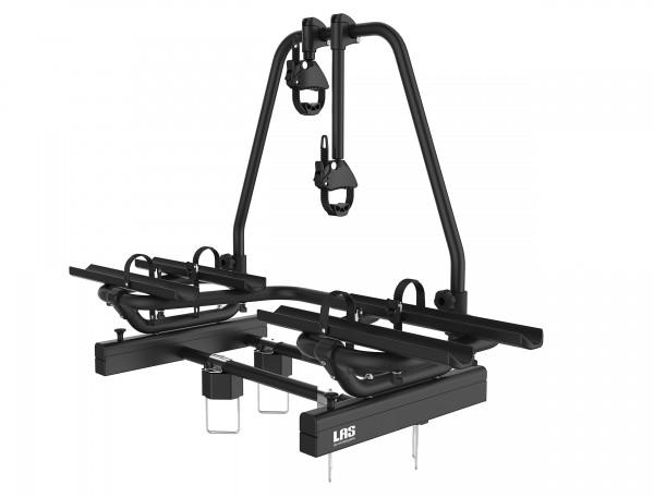 Ausziehbar gleitend Deichselträger 2 e-Bikes BLACK EUFAB Fahrradträger