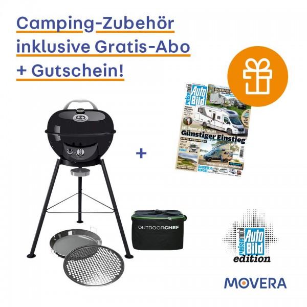 AUTOBILD Aktion OUTDOORCHEF Gaskugelgrill Chelsea 420 G Tasche Gourmet