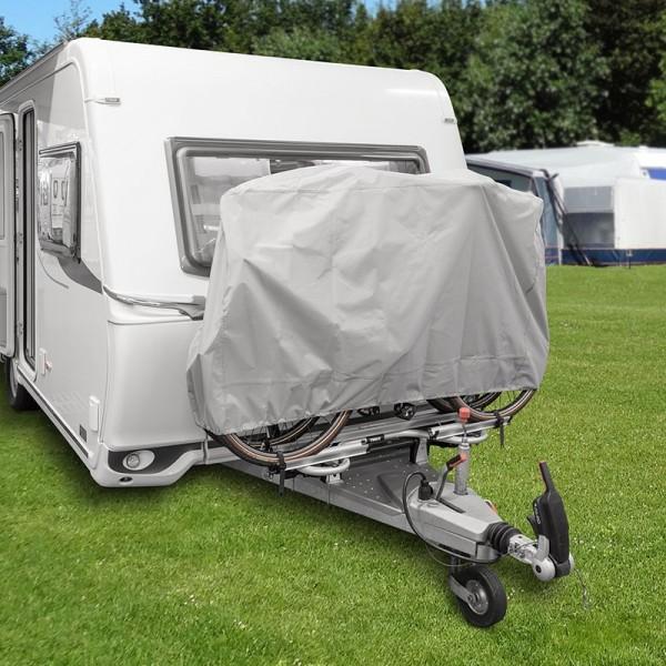 Fahrradschutzhülle XL für 2 Fahrräder für die Deichselmontage silber Wohnwagen