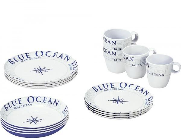 BRUNNER Geschirrset Blue Ocean 16-tlg.