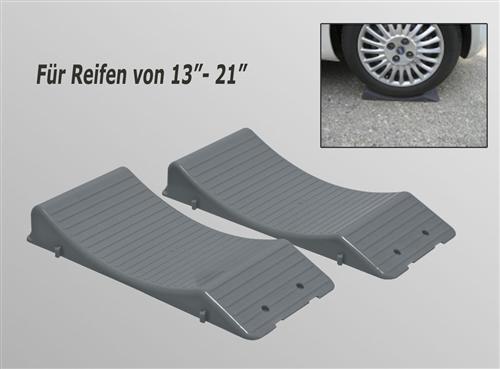 Standplatten KEIL Platten Reifen Schutz Keile Wheel Saver Wohnwagen Sportwagen 2