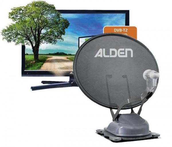 "ALDEN Onelight 60 HD EV S.S.C.® HD-Steuermodul + 18,5"" LED TV Satanlange"