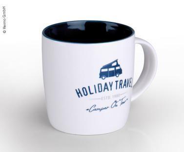 Holiday Travel Trinkbecher für 340ml Inhalt mit großem Henkel WEIß