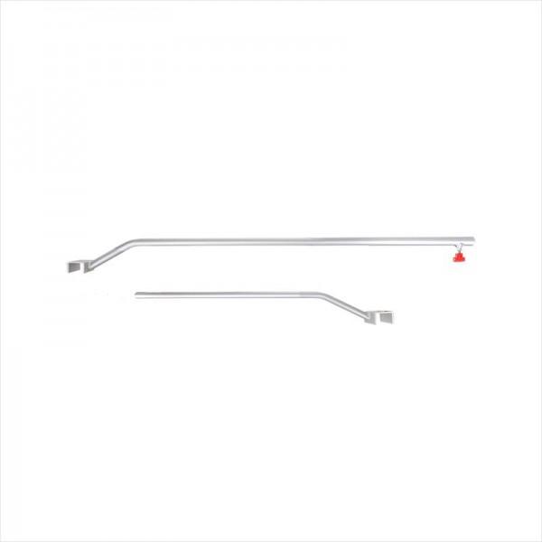 Flachplanenbügel Aluminium verstellbar 108-146cm für Anhänger Planenstütze Alu