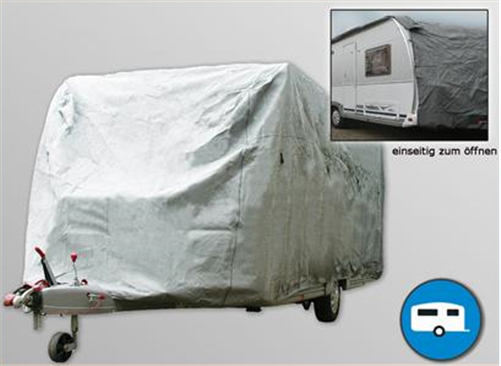 Wohnwagen Abdeckung Caravan allwetter Größe LxBxH ca. 5,79 - 6,40 x 2,35 x 2,50