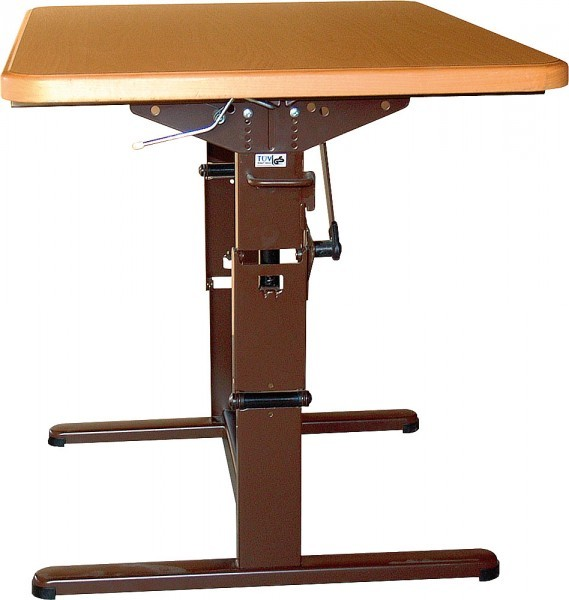FAWO Hubtischgestell mit einfacher Höhenverstellung in braun 75 cm