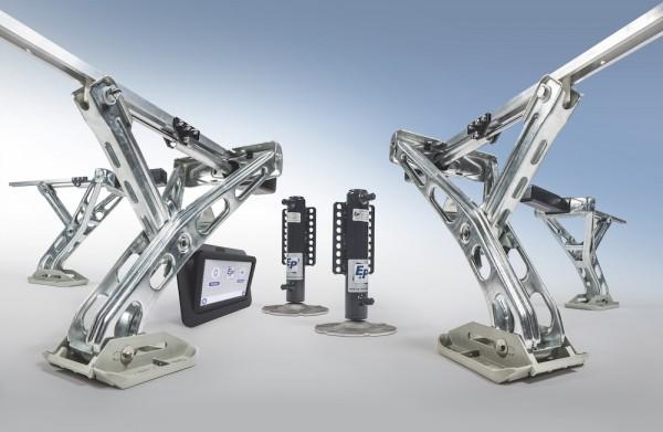 Wohnwagen Levelsystem levelC E&P HOBBY Hydraulik Stützen SET + Einbau