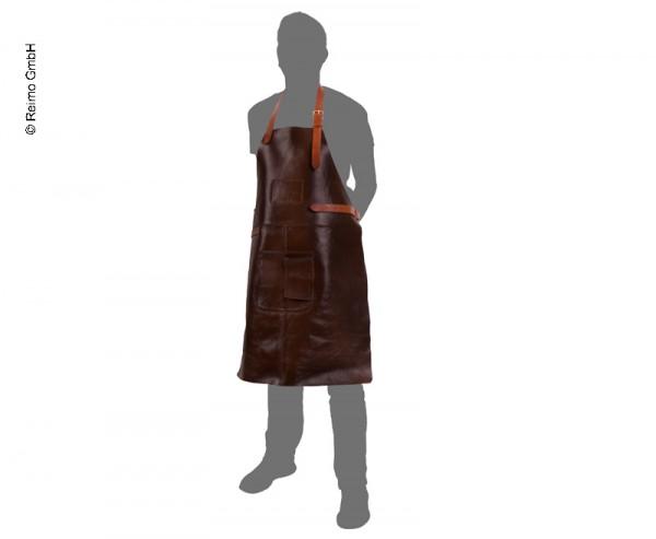 HOLIDAY TRAVEL Grillschürze Dunkel braun Leder BBQ Kochschürze