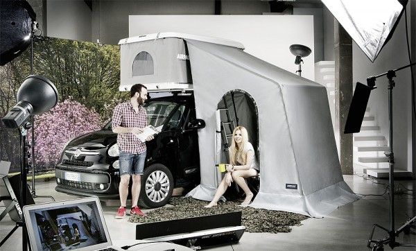 AirPass Vorzelt zu Dachzelt für Minivans min. Höhe 171cm - 185cm Autohome