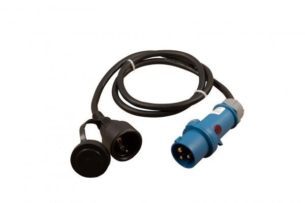 standard Stecker CEE auf Schukokupplung 1,5 m mit Kontrollleuchte