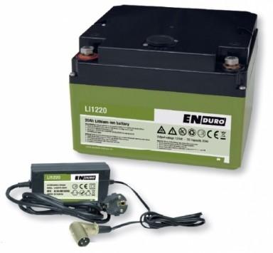 ENDURO Lithium Ionen Akku Batterie 20Ah LI1220 inkl. Ladegerät Rangierhilfe