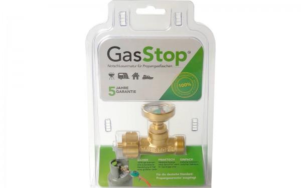GasStop Notschlussarmatur Propangasflaschen Camping Grill Caravan
