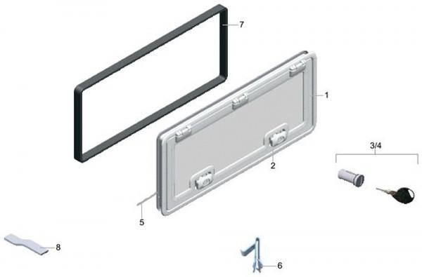 DOMETIC Serviceklappe SK 4, fiat bianco 100,0 cm x 40,5 cm
