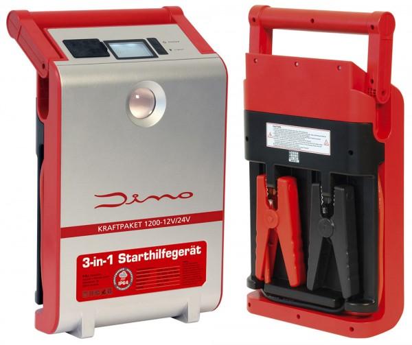 Starthilfegerät Powerbank 12/24V · 1.200A DINO KRAFTPAKET Lithium