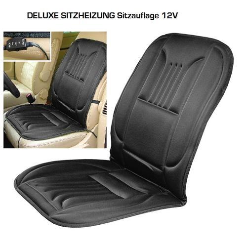 Heizbare Sitzauflage 12V DeLuxe Fahrersitz Beifahrersitz Sitzheizung