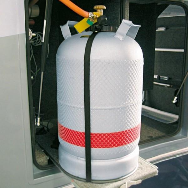 Froli Gasflaschenhalterung aus Kunststoff Befestigung 5kg 11kg Camping fixierung