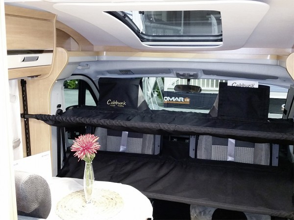 Cabbunk Kinderbett für Fahrerhaus mit Drehsitzen Ducato/VW T5 doppel