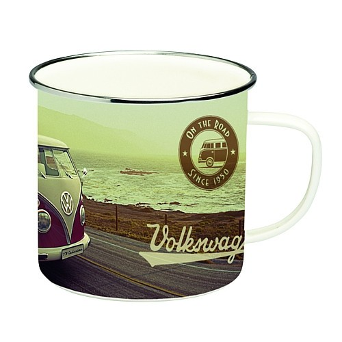 Becher Emaille VW T1 Bus Highway 1,5 l VW Collection by BRISA