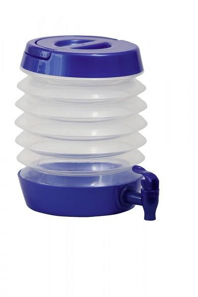 BRUNNER Wasserspender faltbar 5,5 l blau-transparent