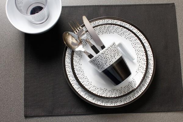 BRUNNER Geschirrset Pralin 16-tlg. weiß_schwarz
