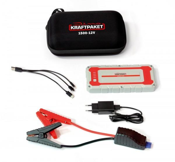Dino KRAFTPAKET Starthilfegerät Powerbank 12V 1500A PKW RAID