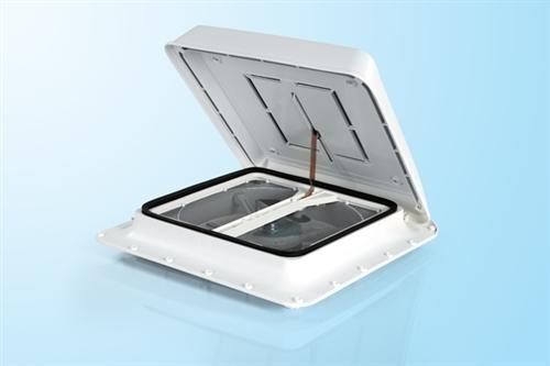"""TURBO-Vent Premium mit Ventilator 12V Touch"""" Steuergerät 40 x 40 weiß"""
