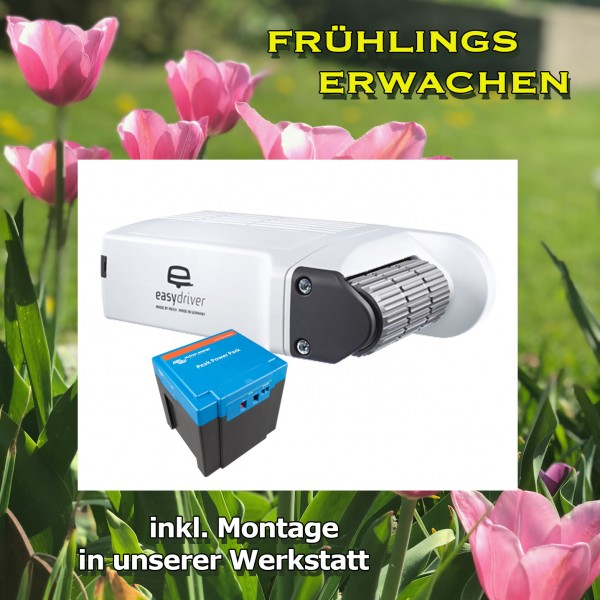 EASYDRIVER PRO 2.0 + EINBAU +PPP Lithium 20AH Rangierhilfe Wohnwagen