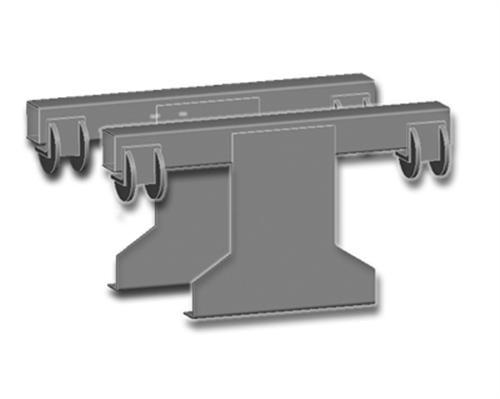 TRUMA Mover Rangierhilfen Adapter für Montagekit Eriba Troll (Hinter der Achse)