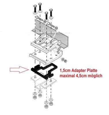 Rangierhilfe EGO Spacer Adapter Promo Titanium Quattro 1,5cm