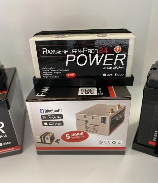 LAXPOWER 12V 20Ah Lithium Akku incl. Ladegerät Bluetooth Rangierhilfe Liao