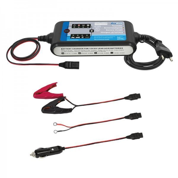 Batterieladegerät 12V 2-4Amp. 9-stufiger Lithium Akkui LiFePO4