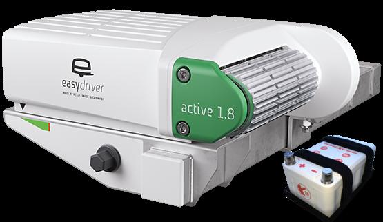 Easydriver Active 1.8 + X10 Lithium Akku Rangierhilfe Wohnwagen Reich Caravan