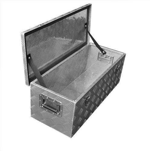 Werkzeugbox Aluminium Anhänger 760 x 320 x H270mm Batterie Staubox Deichselbox