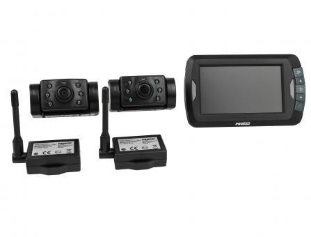 Rückfahrkamera-Set kabellos APR 043 x 2 mit Nachtsichtfunktion