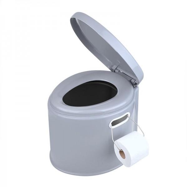 Tragbare Camping Toilette Zelt Wohnwagen Wohnmobil 7Liter WC Eimertoilette
