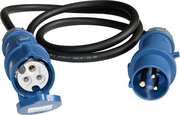 standard Kupplung CEE auf CEE Stecker ohne Kontrollleuchte