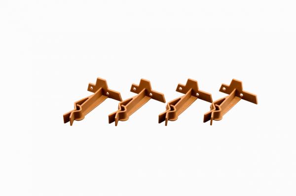 Mega-Klipp Einzelhalter für Rotweingläser braun