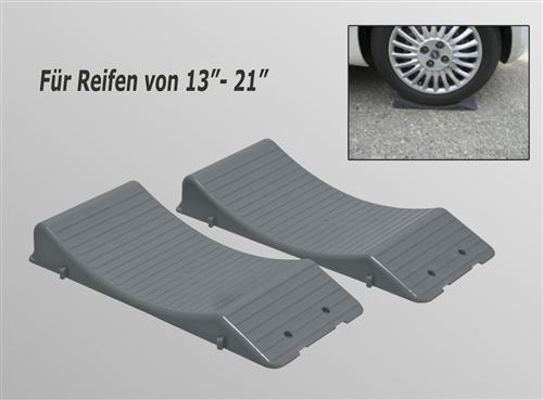 Standplatten Platten Reifen Schutz Keile Wheel Saver Wohnwagen Sportwagen 8stück
