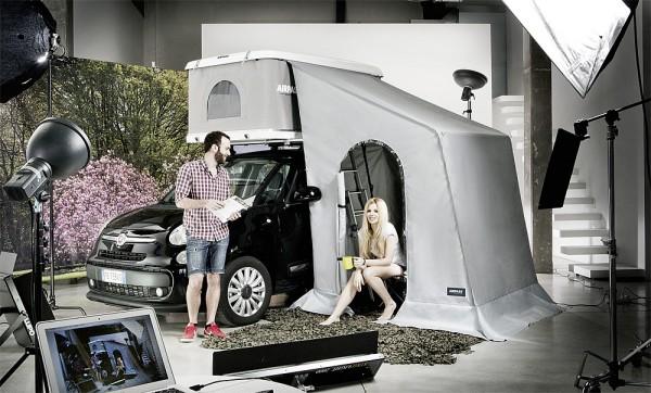 AirPass Vorzelt zu Dachzelt für hohe Fahrzeuge 201cm bis max. 220cm