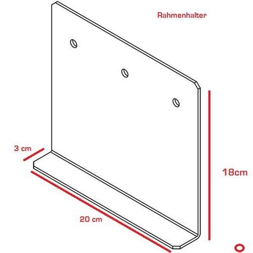 Rangierhilfe Wohnwagen Caravan Adapter beispl. für BPW Rahmen Adapterplatten