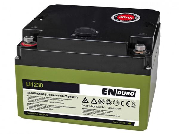 ENDURO Lithium Akku Batterie 30Ah LI1230 inkl. Ladegerät Rangierhilfe