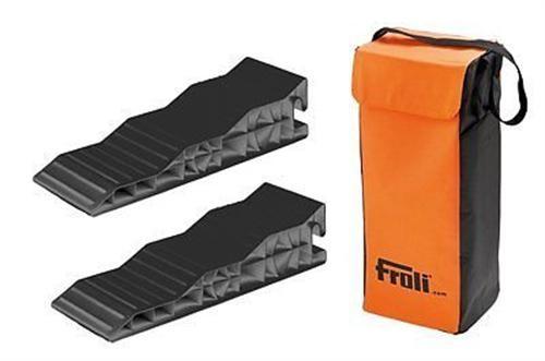 FROLI Stufenkeil 2er Set mit Tasche Auffahrkeil Rampen Wohnwagen Wohnmobil