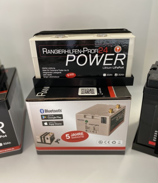LAXPOWER 12V 30Ah Lithium Akku incl. Ladegerät Bluetooth Rangierhilfe LIAO