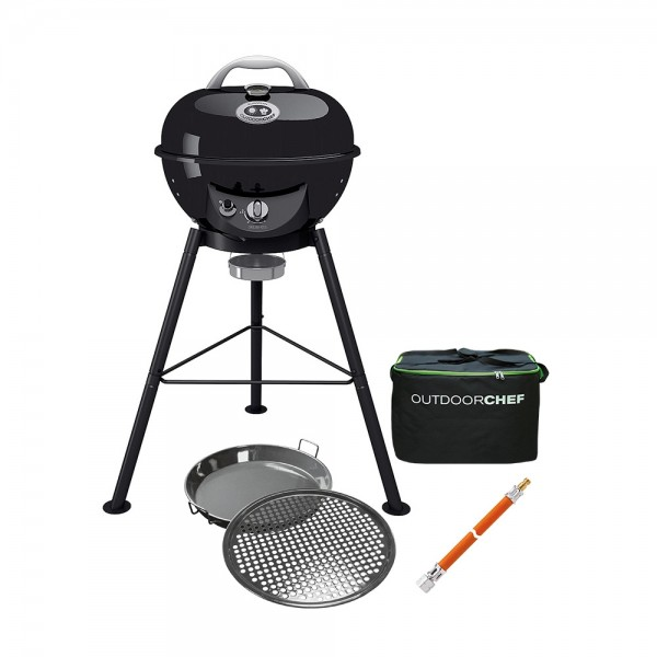 OUTDOORCHEF Gaskugelgrill Chelsea 420 G + Tasche + Gourmet-Set/50mbar